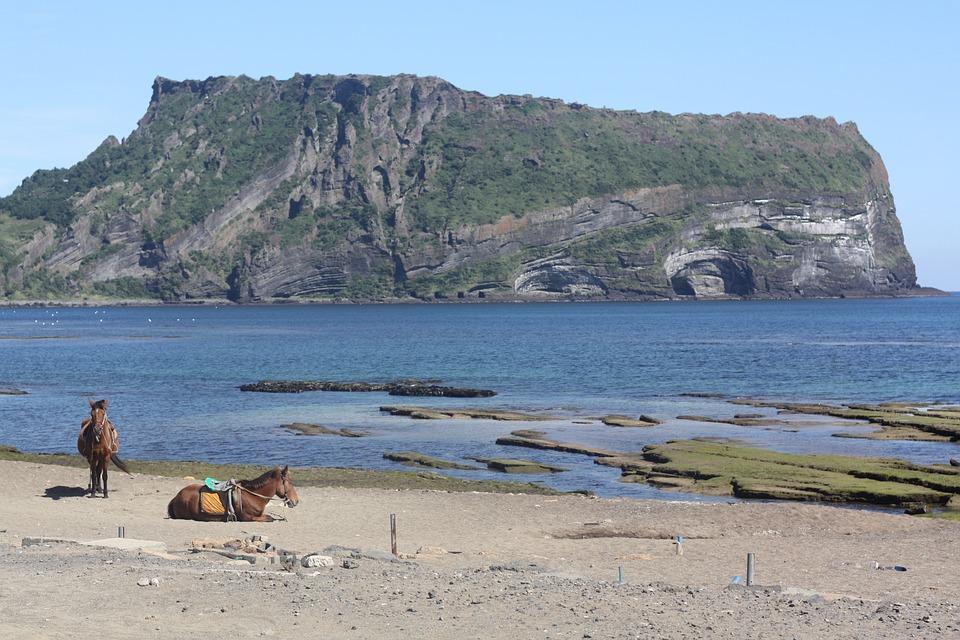 Jeju Island, Landscape, Sea