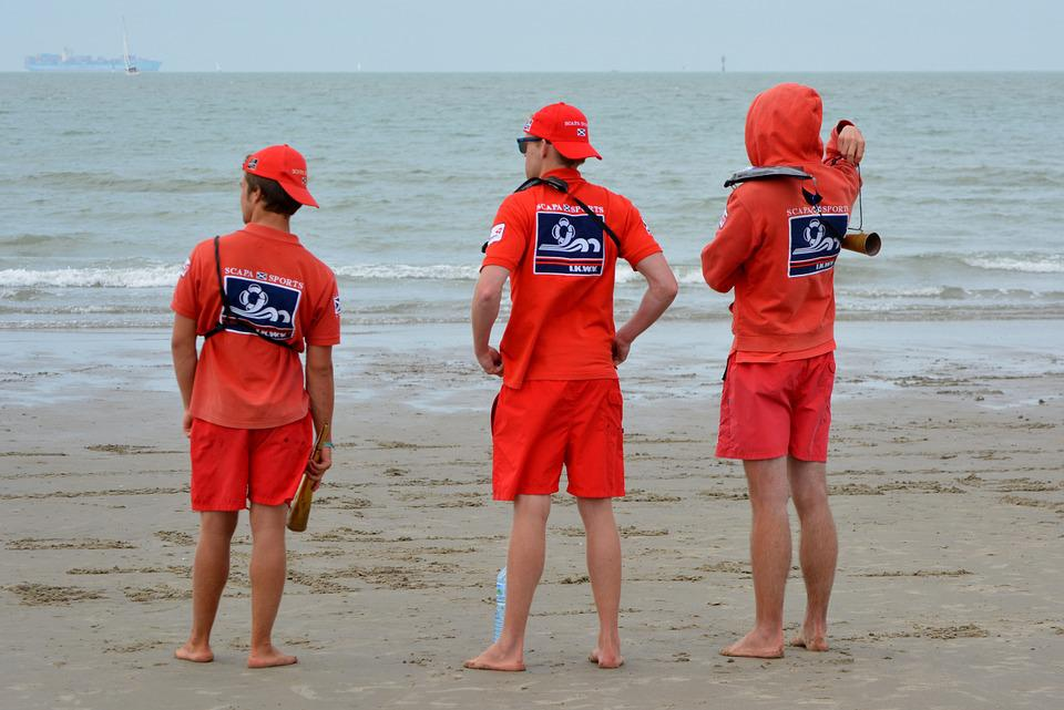 Rescuers, Job, People, Uniform, Sea, Beach, Lifeguard