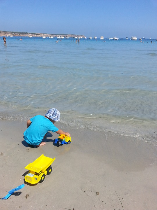 Kid, Summer, Sea