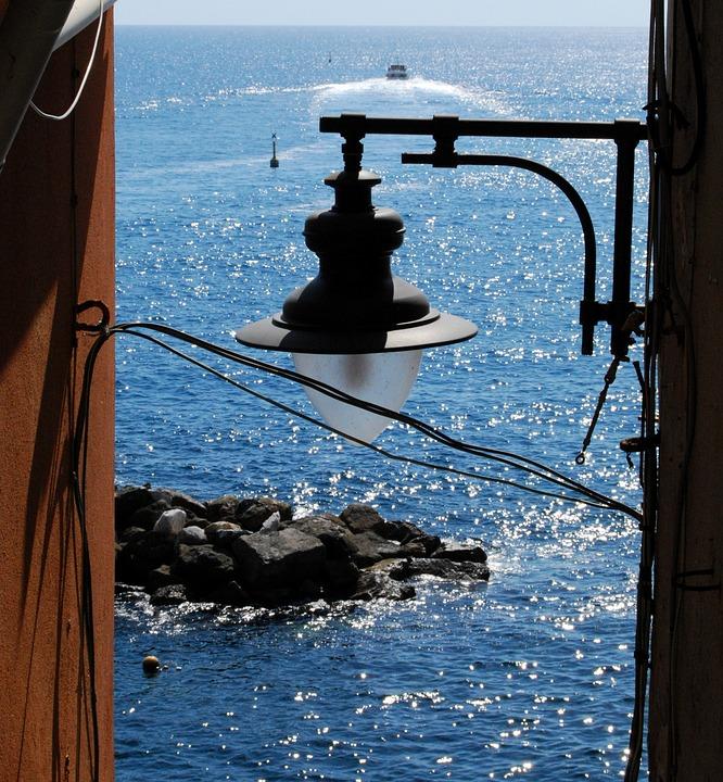 Lamp, Sea, Scoglio, Water, Landscape