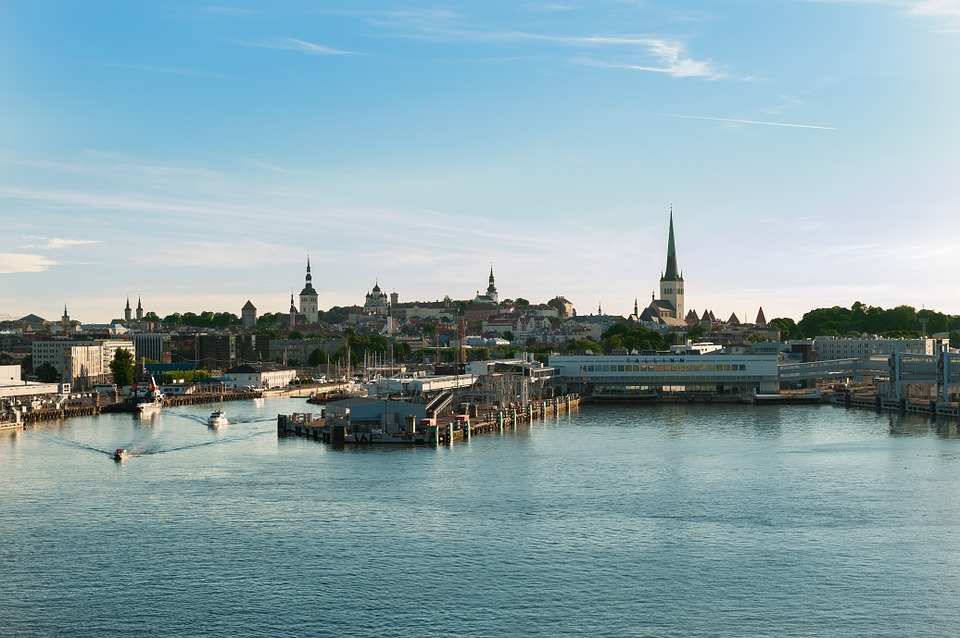 Tallin, Estonia, Skyline, Sea, Sky, Landscape, View