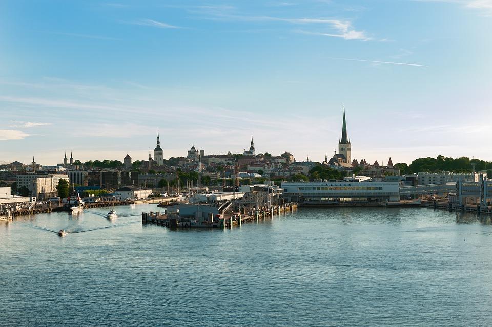 Tallin, Estonia, Skyline, Sea, Sky, Landscape, View