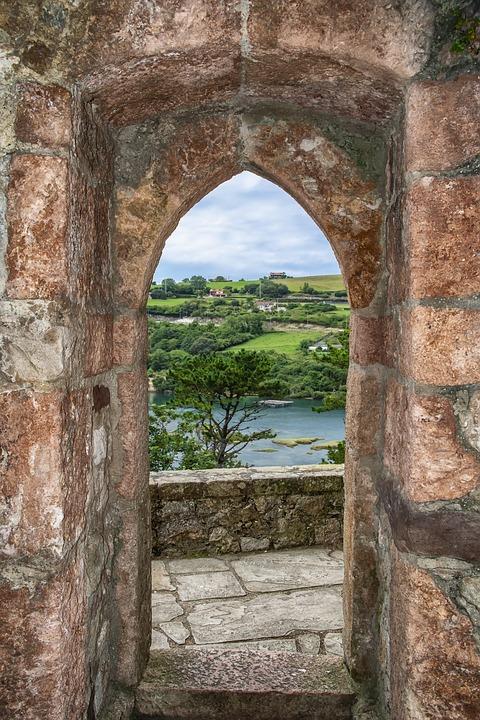 Window, Stone, Sea, Spain, Landscape