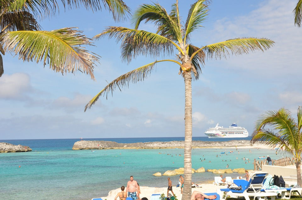 Caribbean, Bahamas, Beach, Ship, Landscapes, Sea