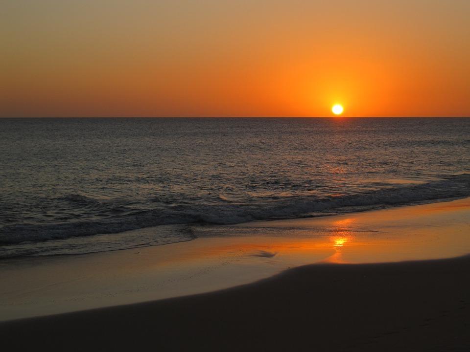 Sunset, Vacations, Leisure, Sea, Water, Sky, Summer