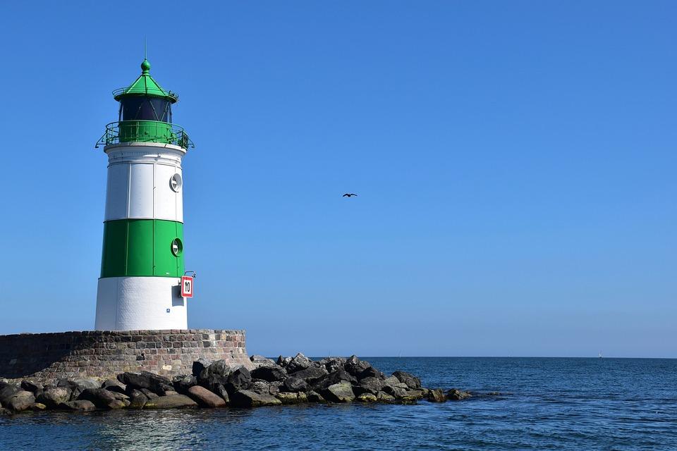 Lighthouse, Sea, Coast