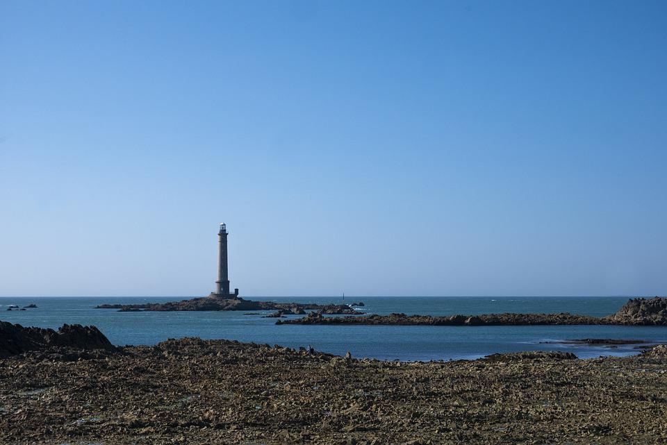 Lighthouse, Sea, Ocean, Beacon, Outdoors