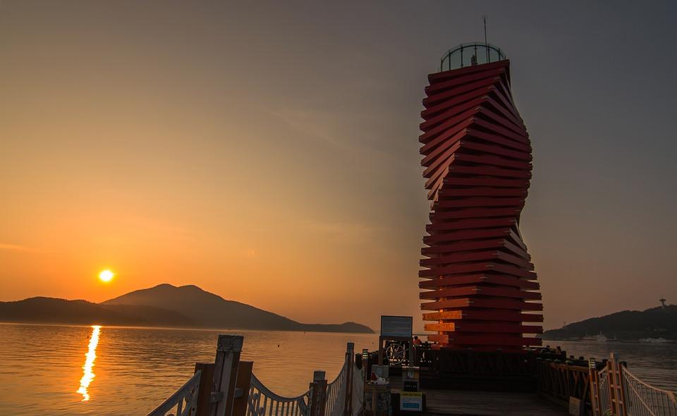 Sunrise, Lighthouse, Sea, Travel, Landscape, Morning
