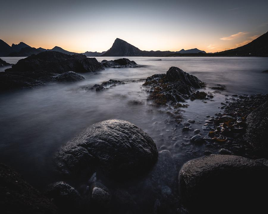 Norway, Lofoten, Nature, Landscape, Sky, Sea, Nordland