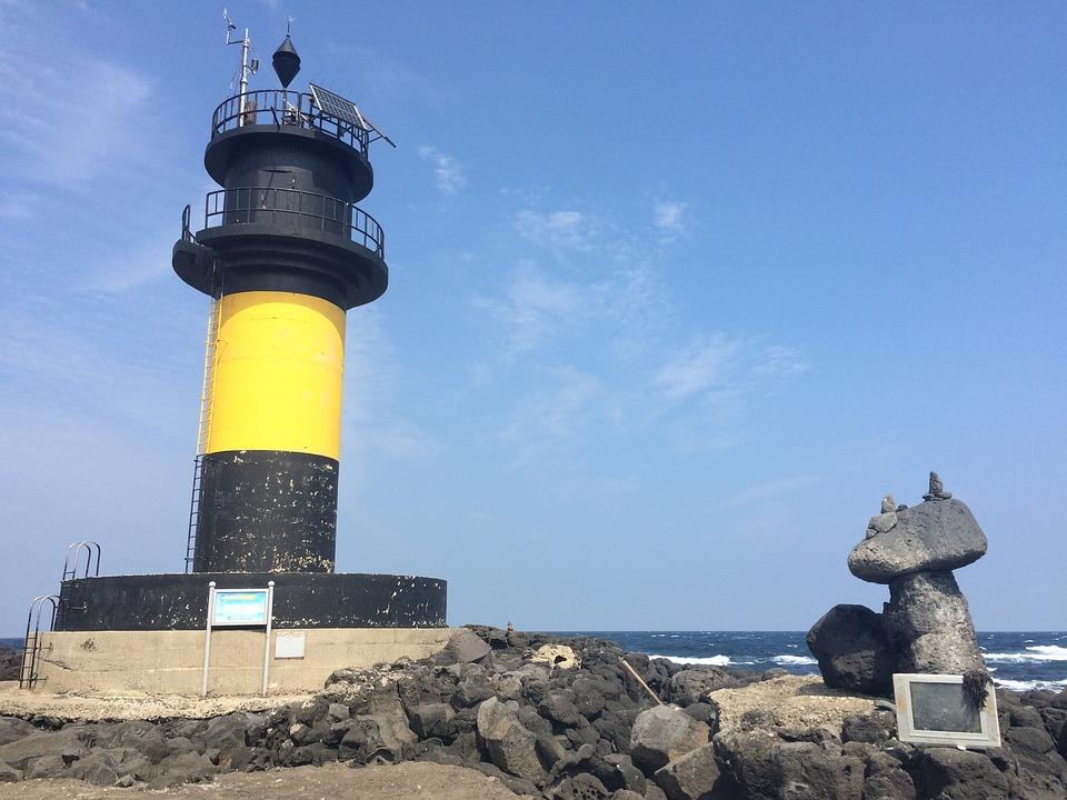 Jeju Island, Jeju Scenery, Lighthouse, Sea, Loneliness