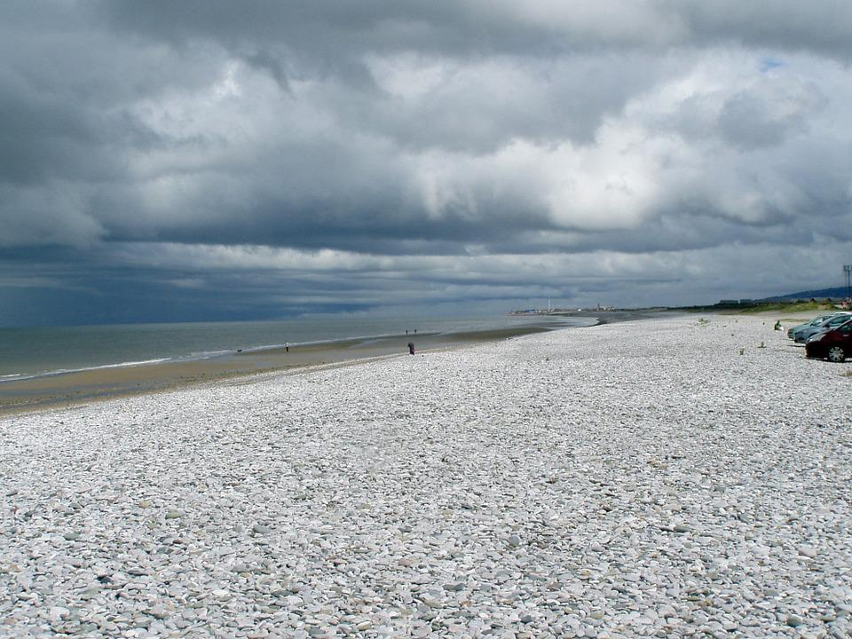 Lonely Beach, Landscape, Loneliness, Stone Beach, Sea