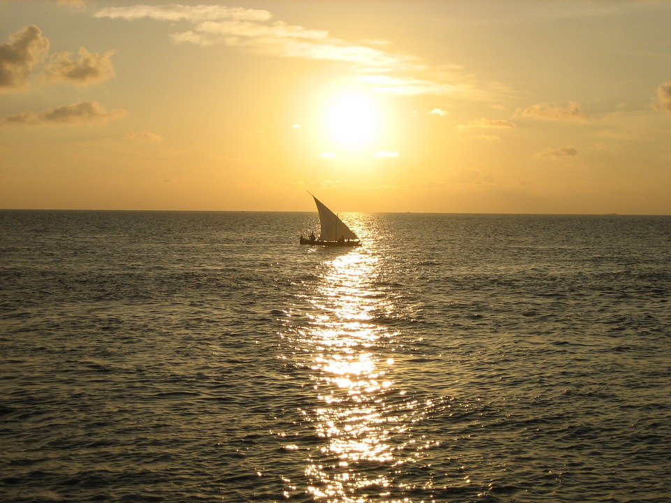 Sunset, Sailing Boat, Maldives, Sea