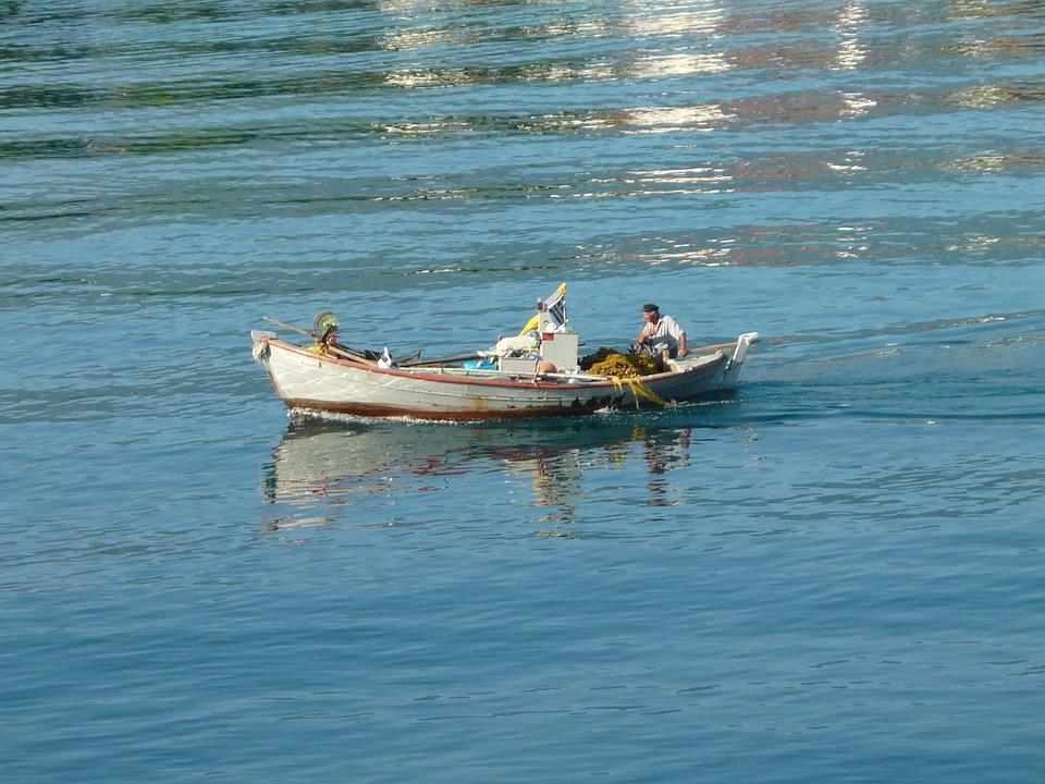 Fisher, Greek, Sea, Water, Man, Greece, Summer