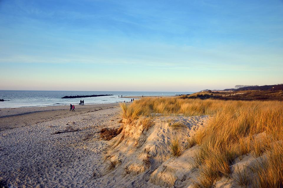 Beach, Sand, Dunes, Marram Grass, Sea, Baltic Sea, Rest