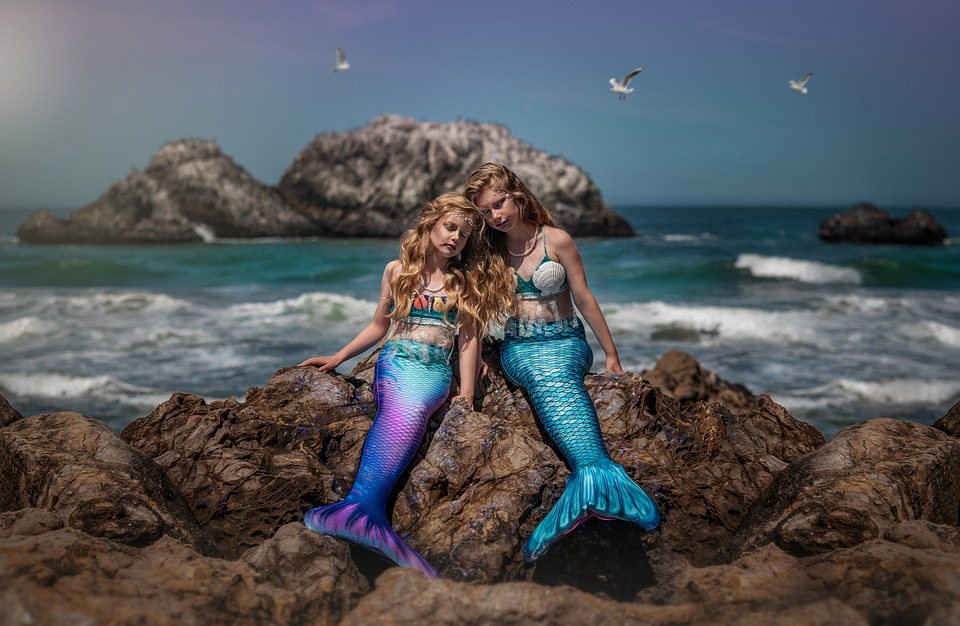 Mermaids, Ocean, Fantasy, Mermaid, Fairytale, Sea