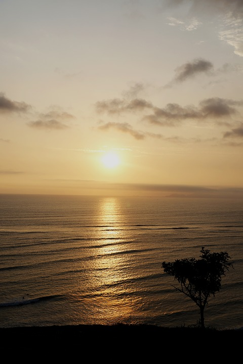 Lime, Peru, Miraflores, Beach, Landscape, Sunset, Sea