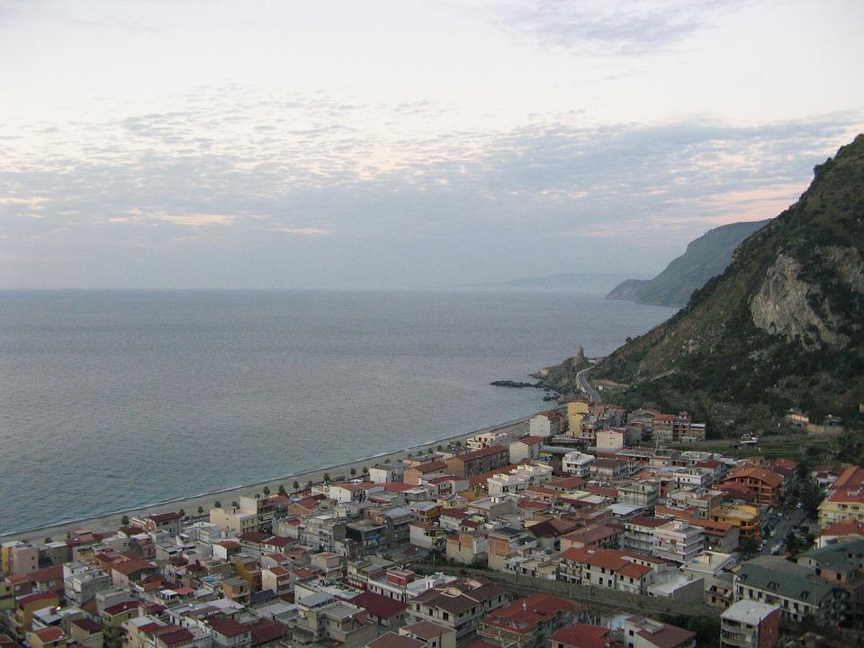 Bagnara Calabra, Calabria, Sea, Country, Mountain