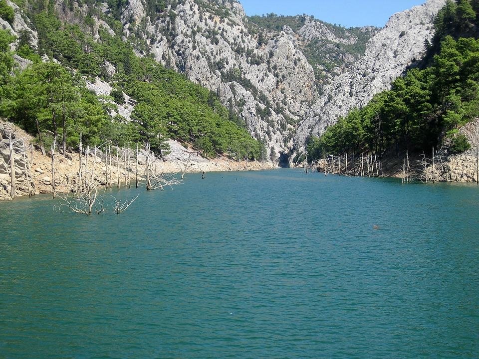 Turkey, Water, Mountains, Landscape, Sea, Bank, Nature