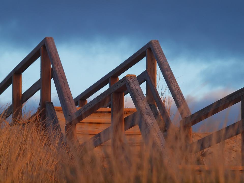 Sky, Wood, Nature, Sylt, Dunes Bridge, Dune, Sea, Woods