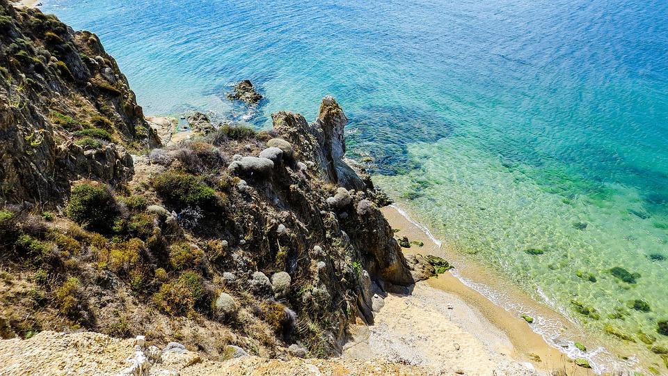 Nature, Sea, Rock