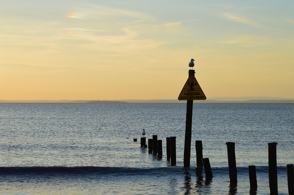 Sea, Seaside, Nature, Silhouette, Coast, Sunset