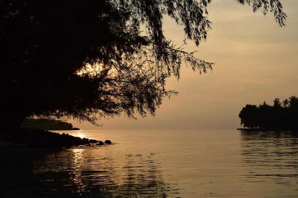Sea, Dawn, Sunset, Nature, Water, Sky, Summer, Beach