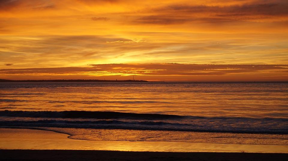 Water, Sea, Ocean, Beach, Blue, Travel, Sand, Twilight
