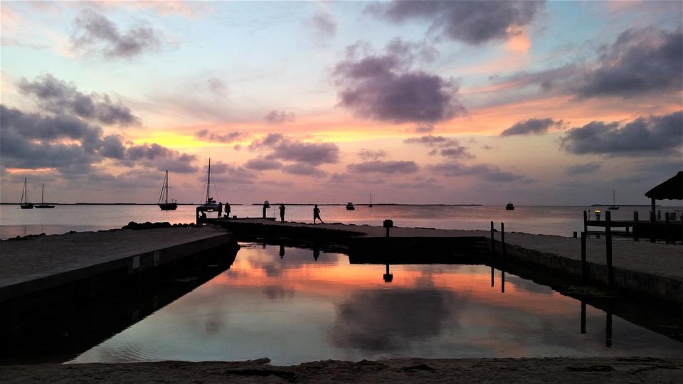 Sunset, Beach, Water, Sky, Ocean, Sea, Dusk, Nature