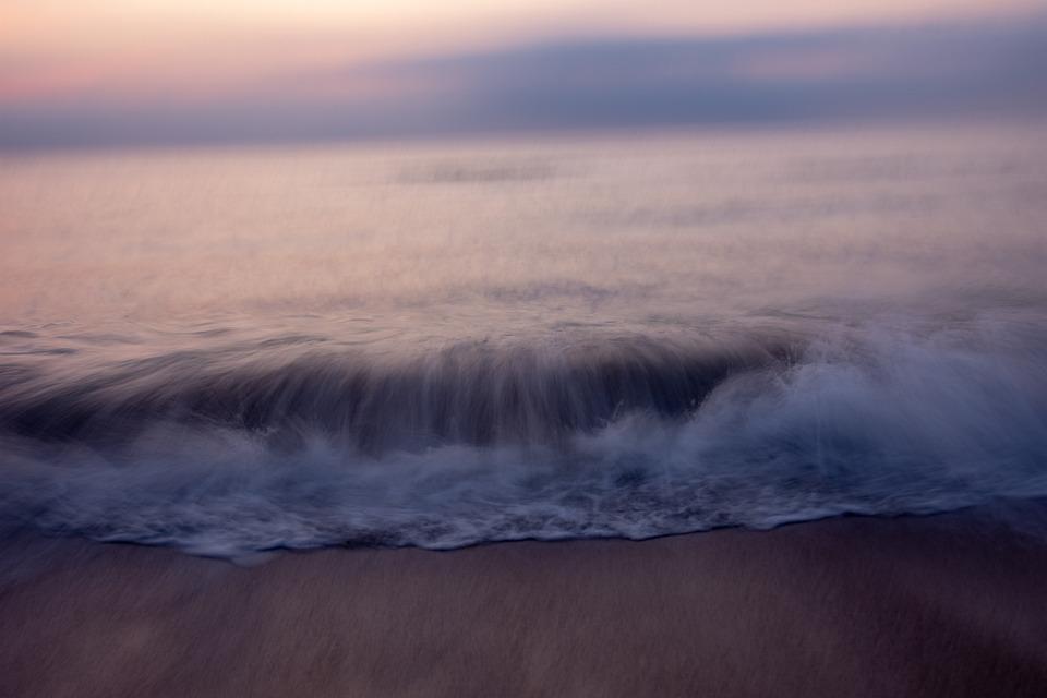 Beach, Sunrise, Corolla, Outer Banks, Sea, Ocean, Water