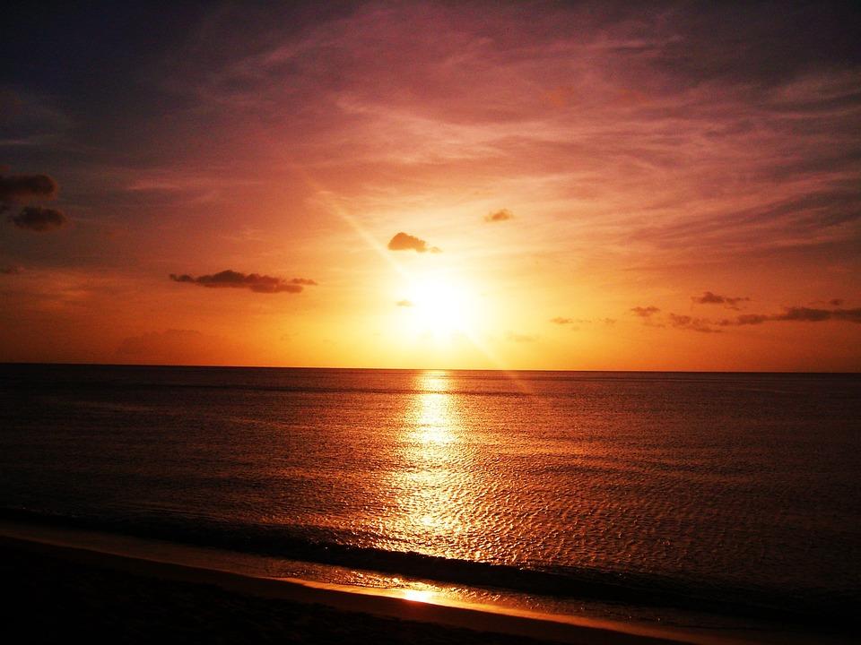 Sunset, Sea, Ocean, Clouds, Sun, Sunset On The Sea