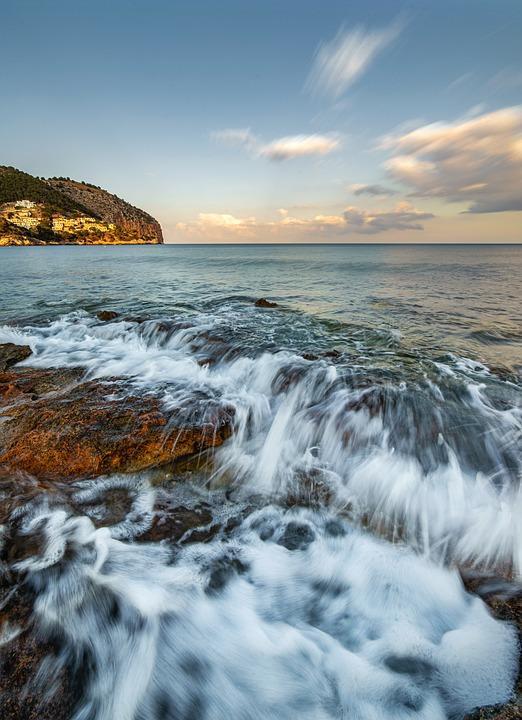 Sea, Surf, Water, Wave, Beach, Vacations, Rock, Ocean