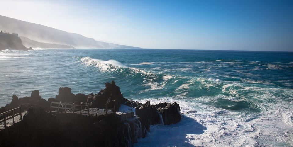 Sea, Wave, Ocean, Canaria Islands, Tenerife