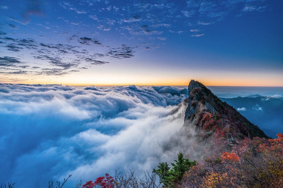 Mountain, Summit, Cloud, Peak, Sea Of clouds