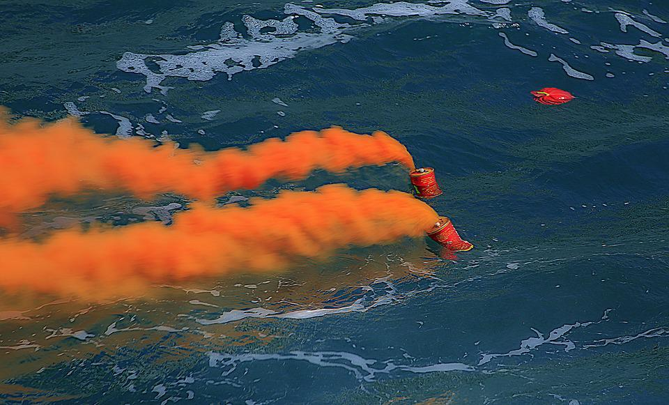 Ceremony, Sea, Smoke, Orange, Navy Day