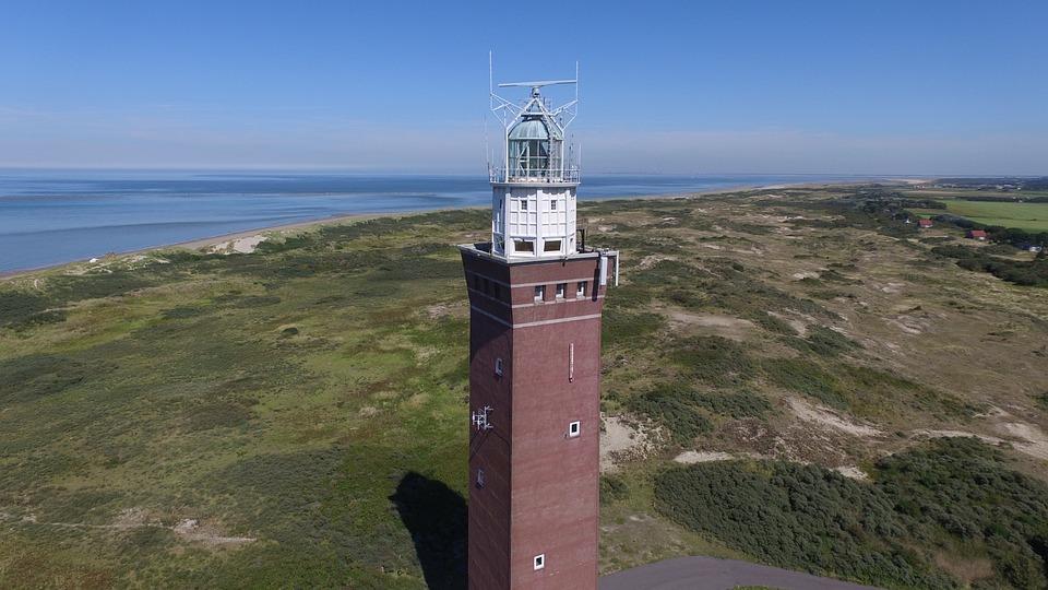 Lighthouse, Ouddorp, Zealand, Dunes, Sea, Coast