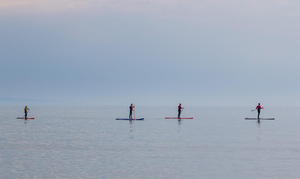 Paddleboarding, Beach, Sea, Stand Up Paddle Boarding