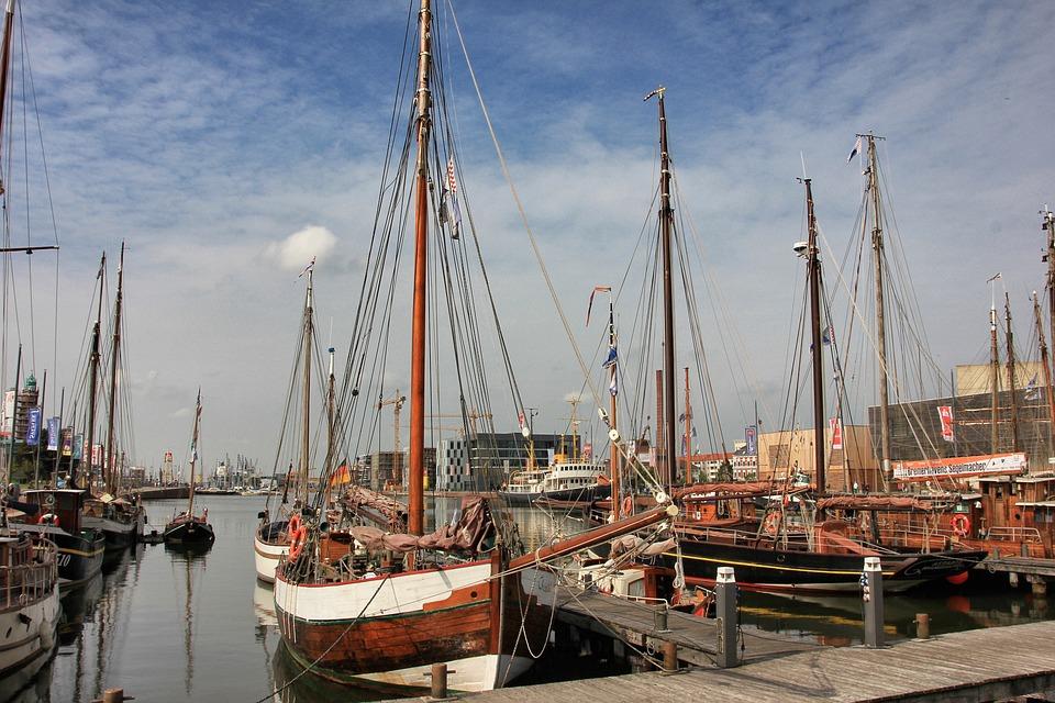 Port, Sea, Pier, Waters, Ship, Boot, Sailing Boat