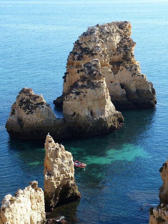Algarve, Portugal, Sea, Nature, Rock, Coast, Atlantic