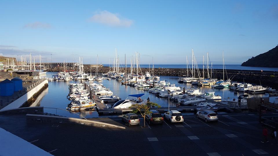 Portugal, Terceira, Island, Azores, Marina, Sea, Boats