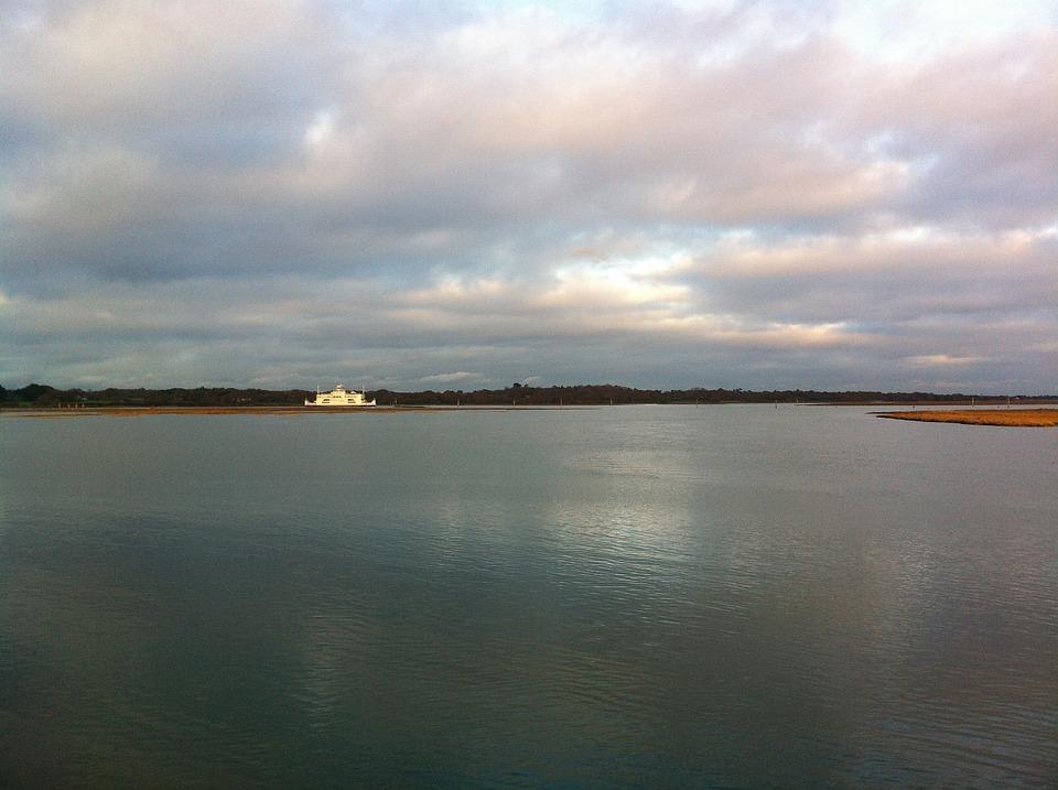 Sea, Sunset, Reflected, Calm Sea, Ocean, Sky, Clouds