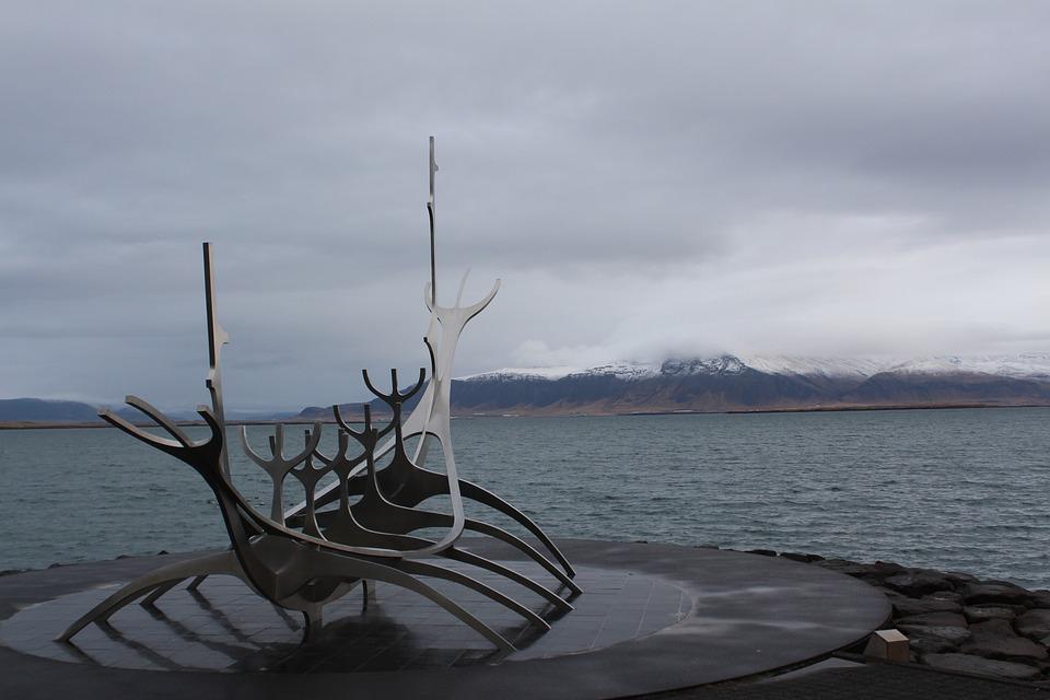 Iceland, Reykjavik, Viking, Sea, Art, Ship, Monument