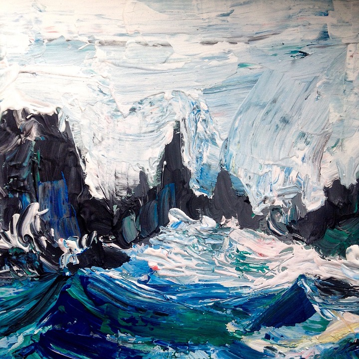 Rocks, Sea, Figure, Wave, Landscape, Summer, Rock