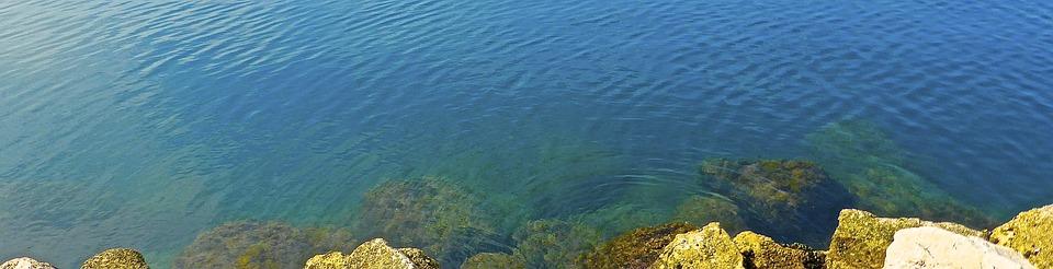 Sea, Rocks, Coastline, Seascape, Coast, Shore, Blue