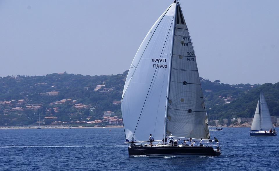 Sailing Boat, Water, Blue, Sea, Boating