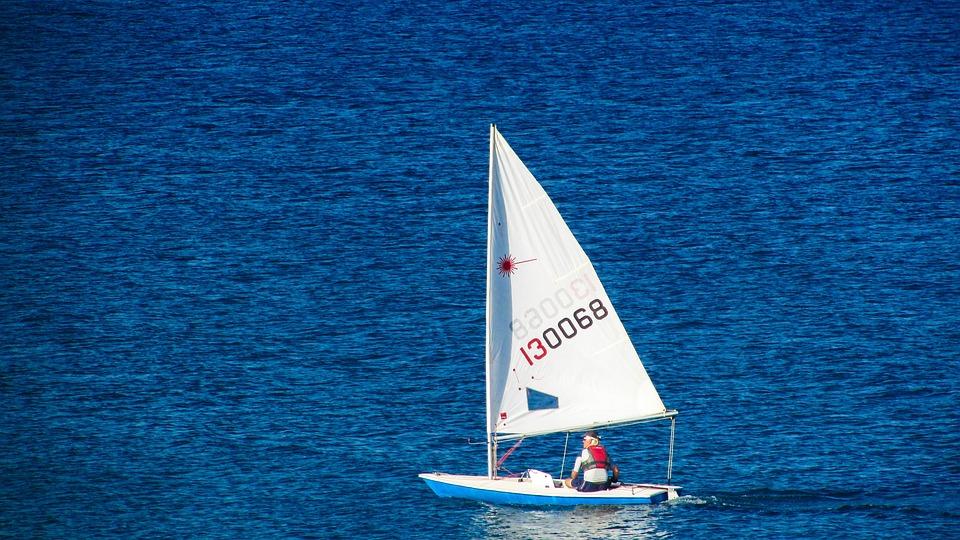 Sail Boat, Sea, Blue, Sport, Sailing, Recreation