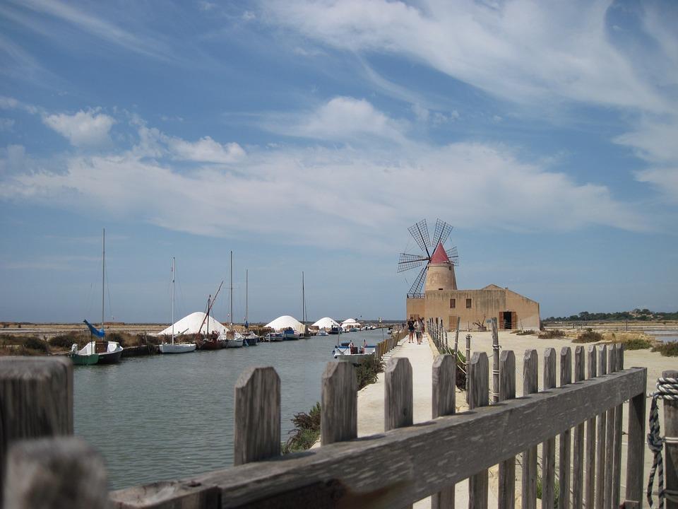 Windmill, Salt, Saline, White, Sea, Salzberg, Sea Salt
