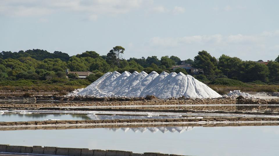 Salt, Salt Pans, Mallorca, Sea, Sea Salt, White