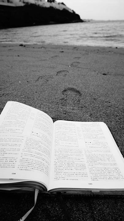 Sand, Beach, Outdoors, Footprints, Sea, Bible, Peaceful