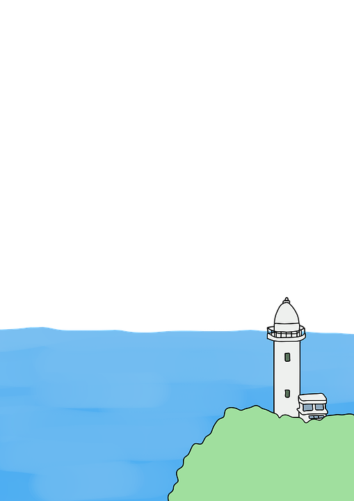 Lighthouse, Sea, Scenery