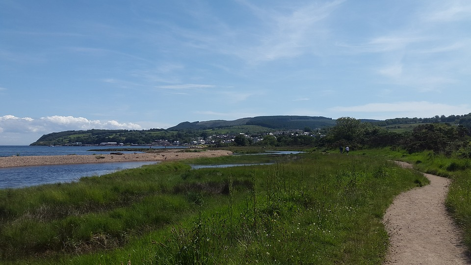 Isle Of Arran, Beach, Sea, Sky, Scotland, Path